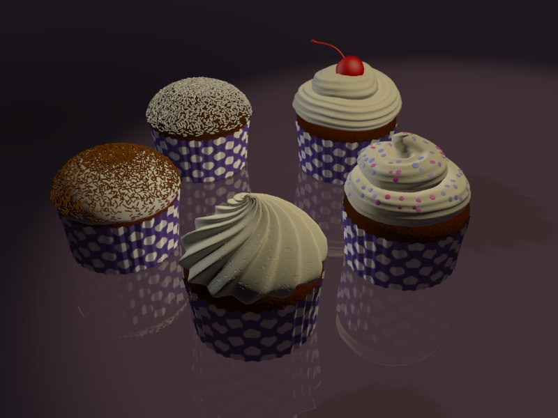 cupcakes cakes 3d model