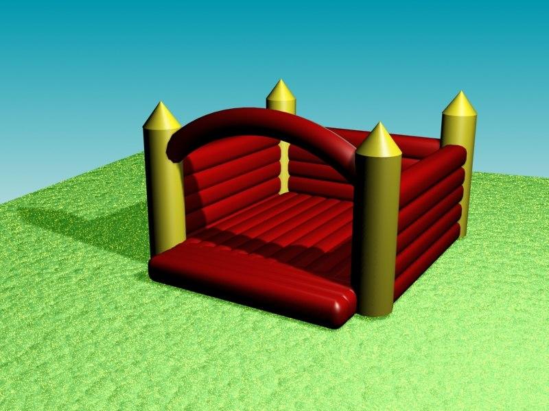 inflatable castle 3d model