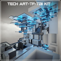 3d tech art-tf-tb2 kit abstract art