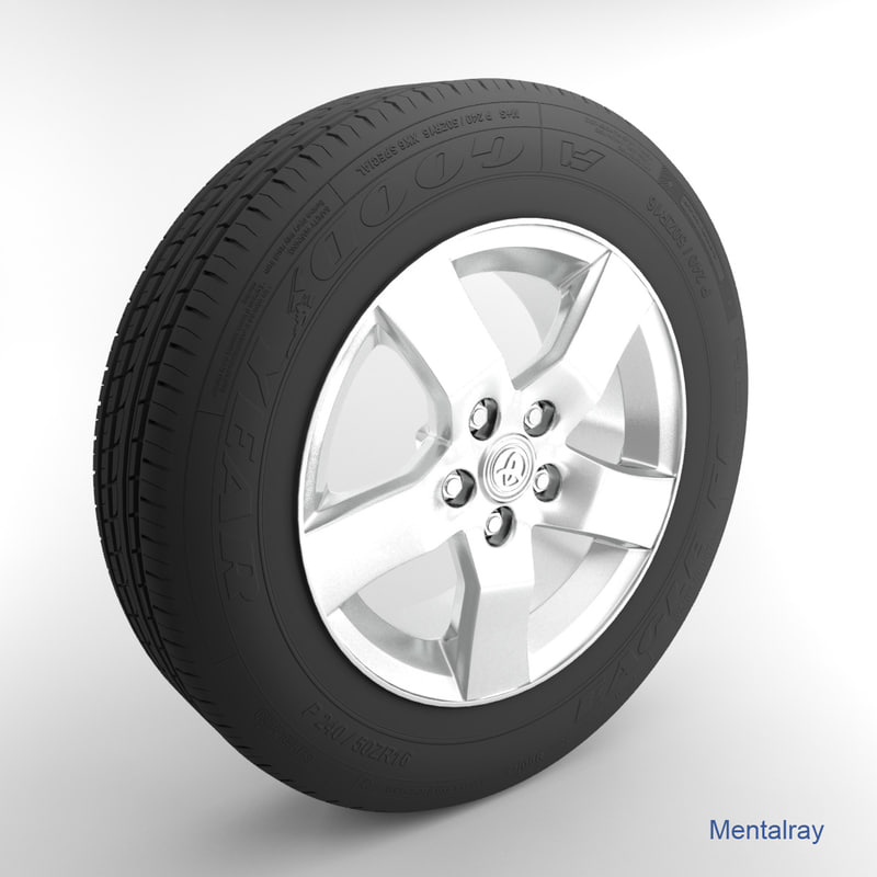 3d toyota tire model