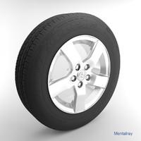 3d toyota tire model