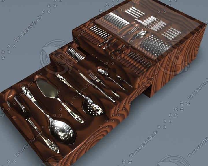 3d model of kitchen set