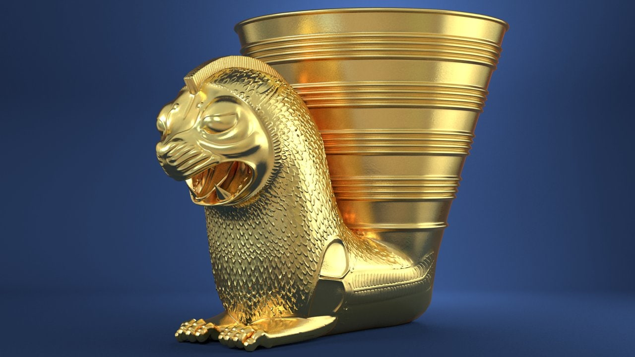 achaemenid rhyton 3d model