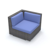 Corner Wicker Chair