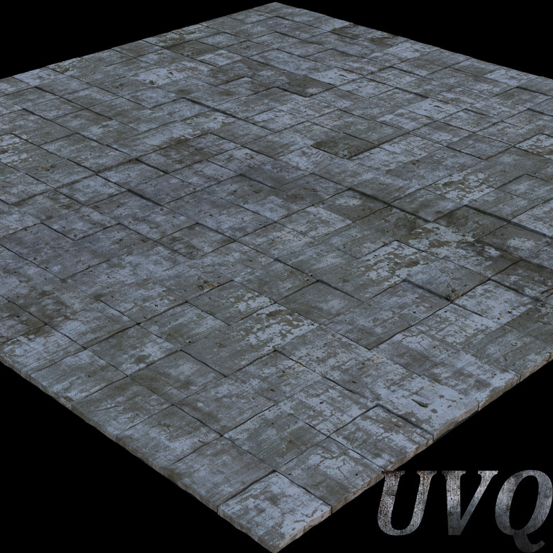 stone pavement 3d max