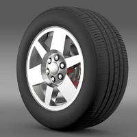 3d model gmc yukon xfe wheel