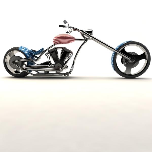 3d model american chopper
