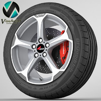 wheel 4go 228 3d obj