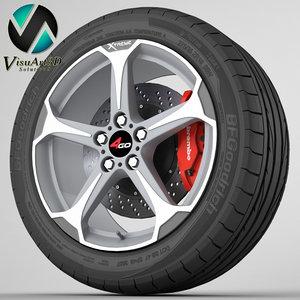 wheel 4go 228 3d obj