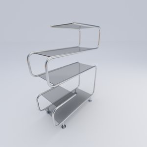 3d glass shelf model