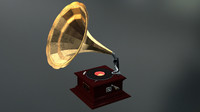 Old Gramophone for ELEMENT3D