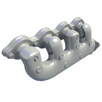 3d exhaust manifolds model