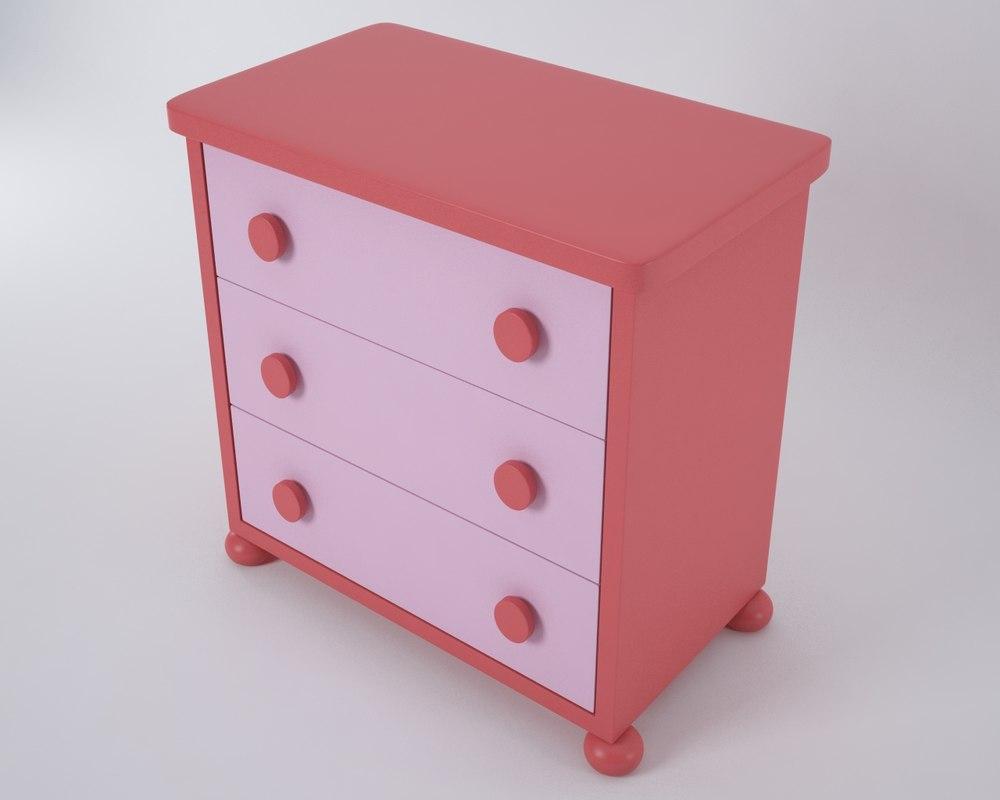 3d model mammut drawer chest