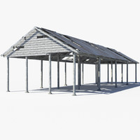 3ds max pole barn
