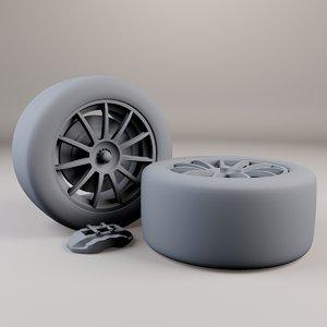 free 3ds model racing wheel