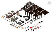 3d 3ds revit furniture pack