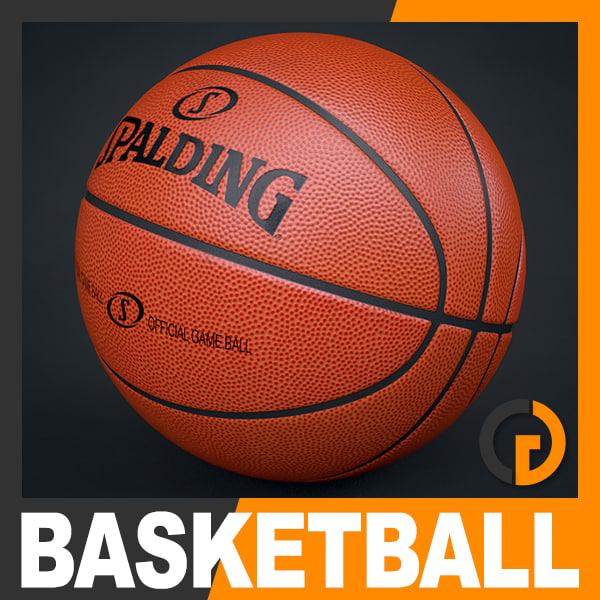 3d c4d spalding official basketball ball