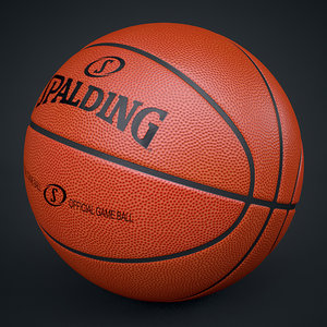 3d c4d spalding official basketball ball