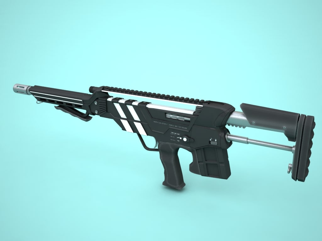 3d model rifle vector x1