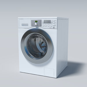 washingmachine washing machine 3d obj