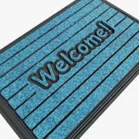 3d welcom mat