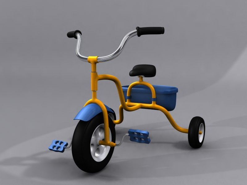 children tricycle child 3d max