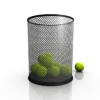 bin dustbin 3d obj