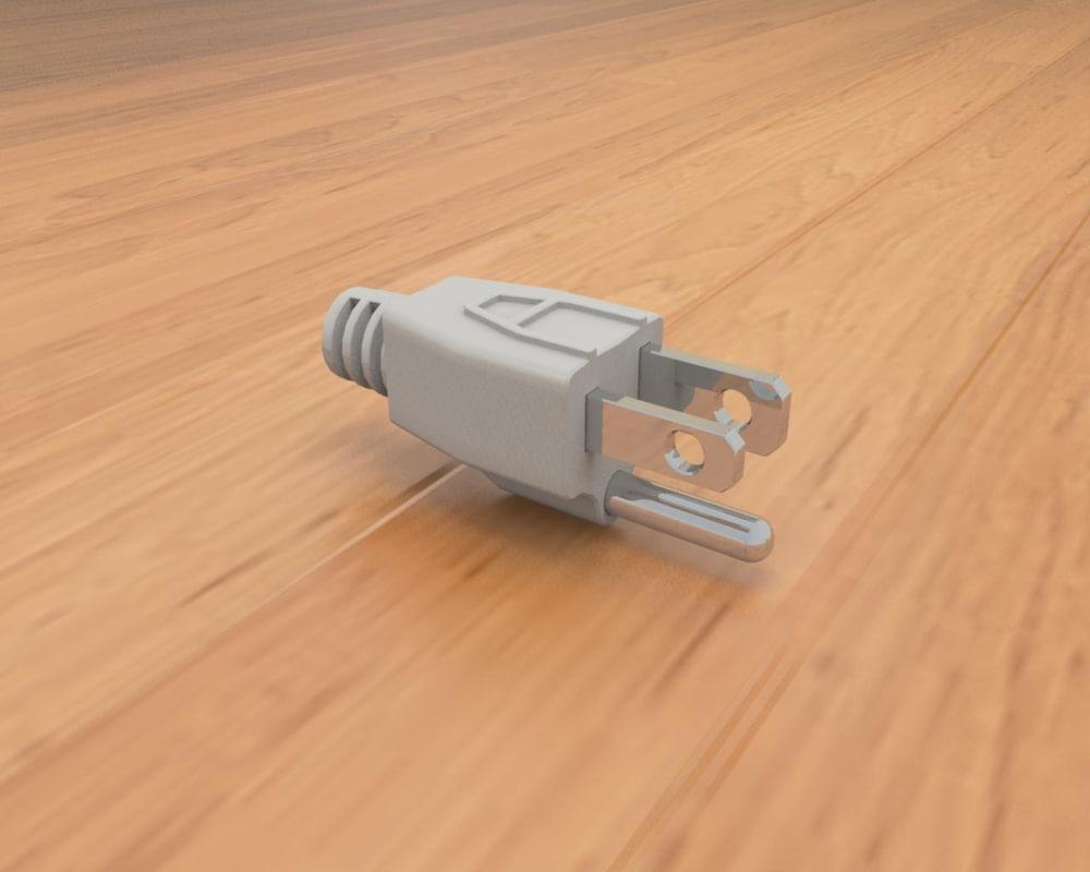 obj american ac power plug