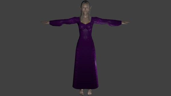 female elf 3d model