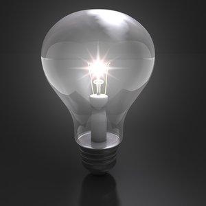 incandescent lightbulb lighting 3d 3ds