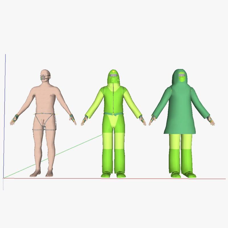multipurpose clothing 3d model