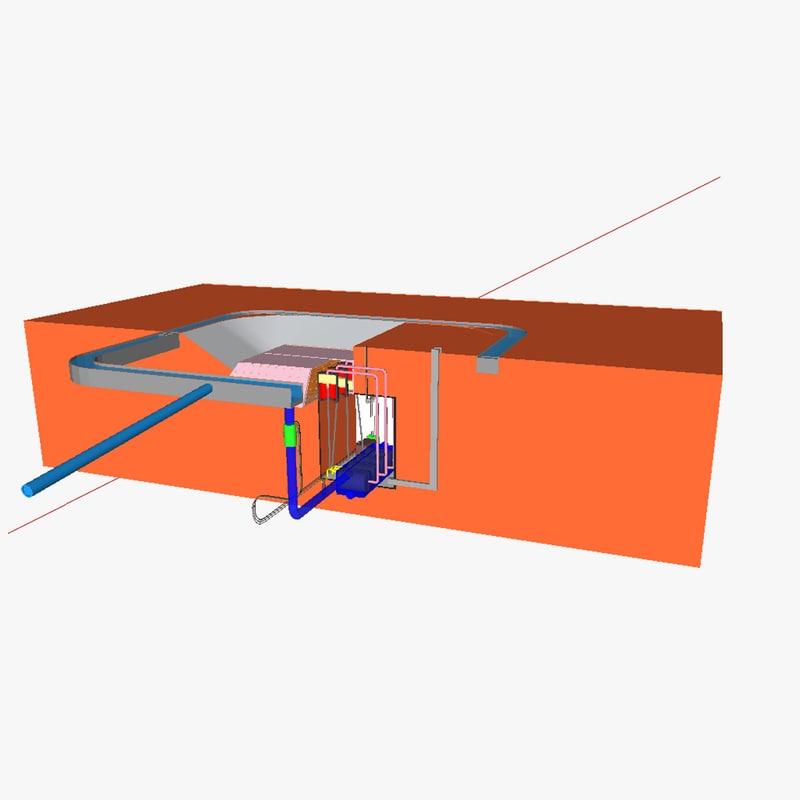 3d model solar power tower 2