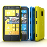 Nokia Lumia 620 Cyan and Yellow