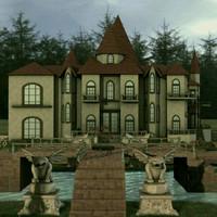 3d model house landscape