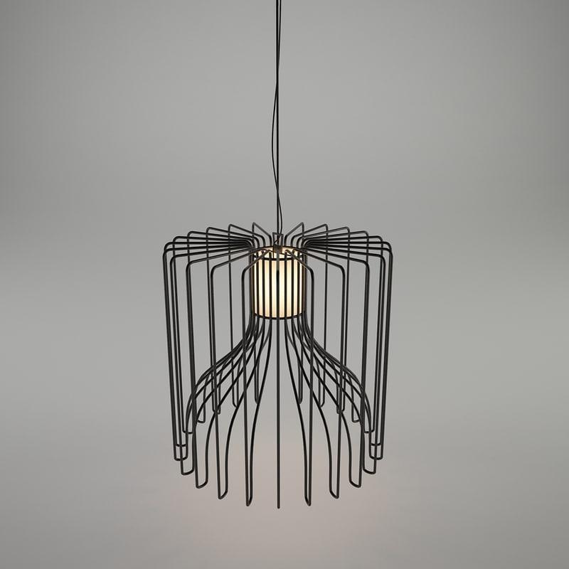 3d model of icaro ceiling lamp modo
