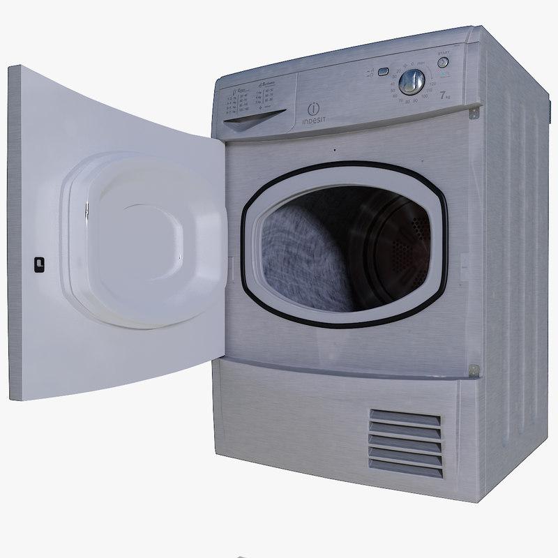 clothes dryer indesit idc75s 3ds