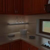 neon lighting shelf support 3d max