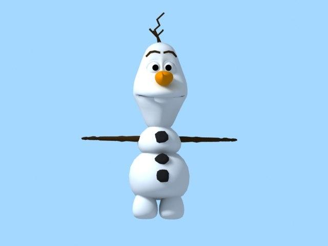 snow olaf 3d model