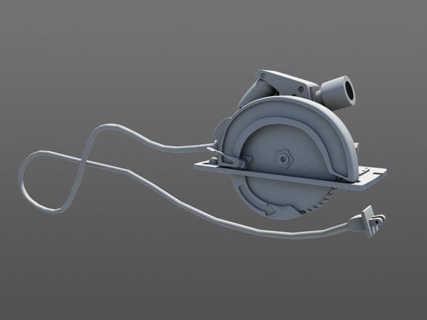 3d circular saw model