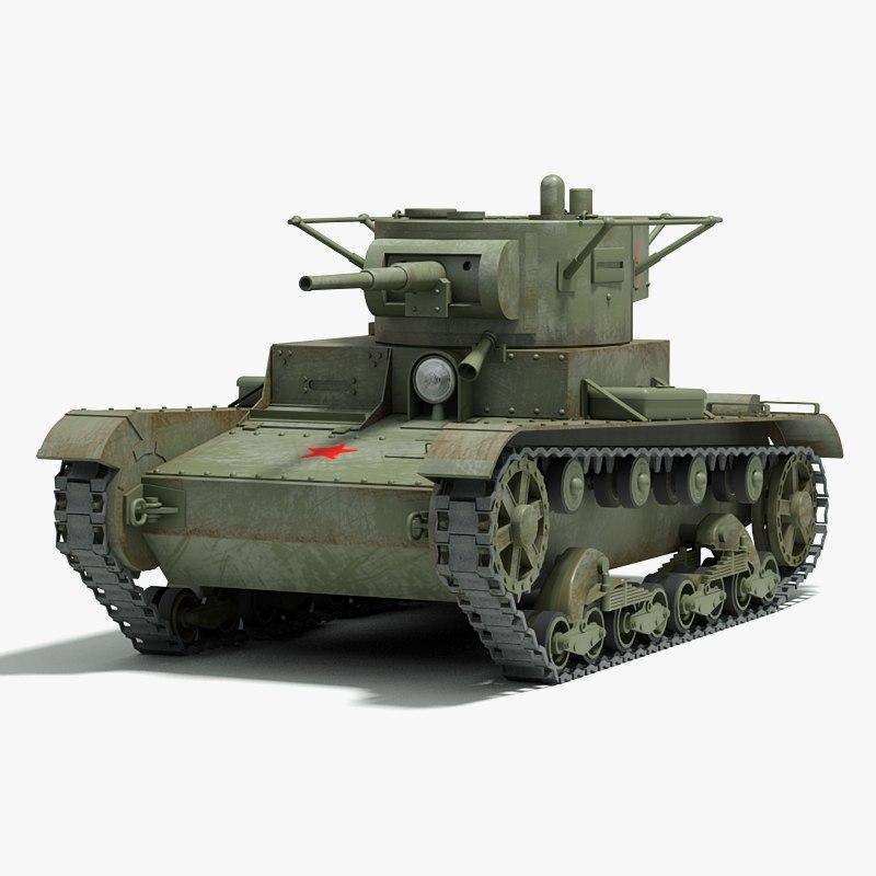 ww2 soviet tank tracks 3d model