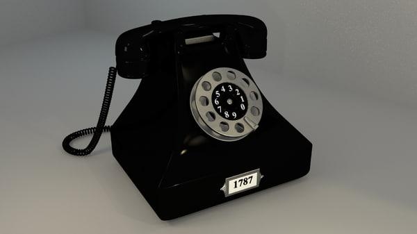 retro telephone 3ds