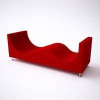 3d max cappellini sofa