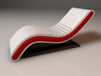 3D Models Chaise Longue 3D Model EA3DMK