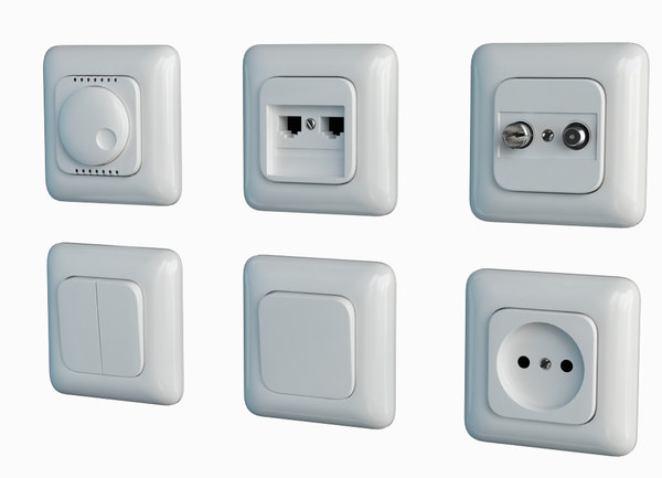 3d switches sockets titan