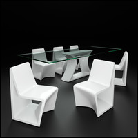 Rest Dining Table and Chairs by Vondom