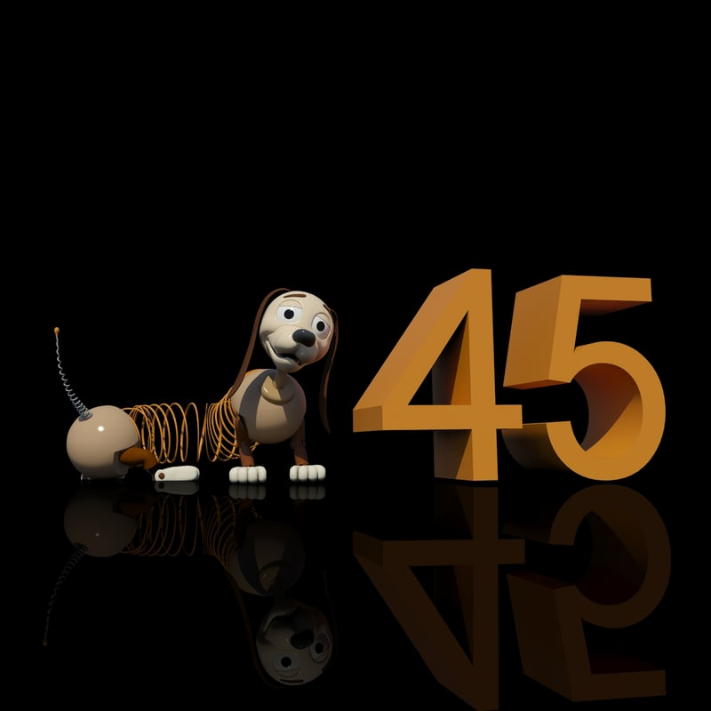 character slinky-dog animation 3d max