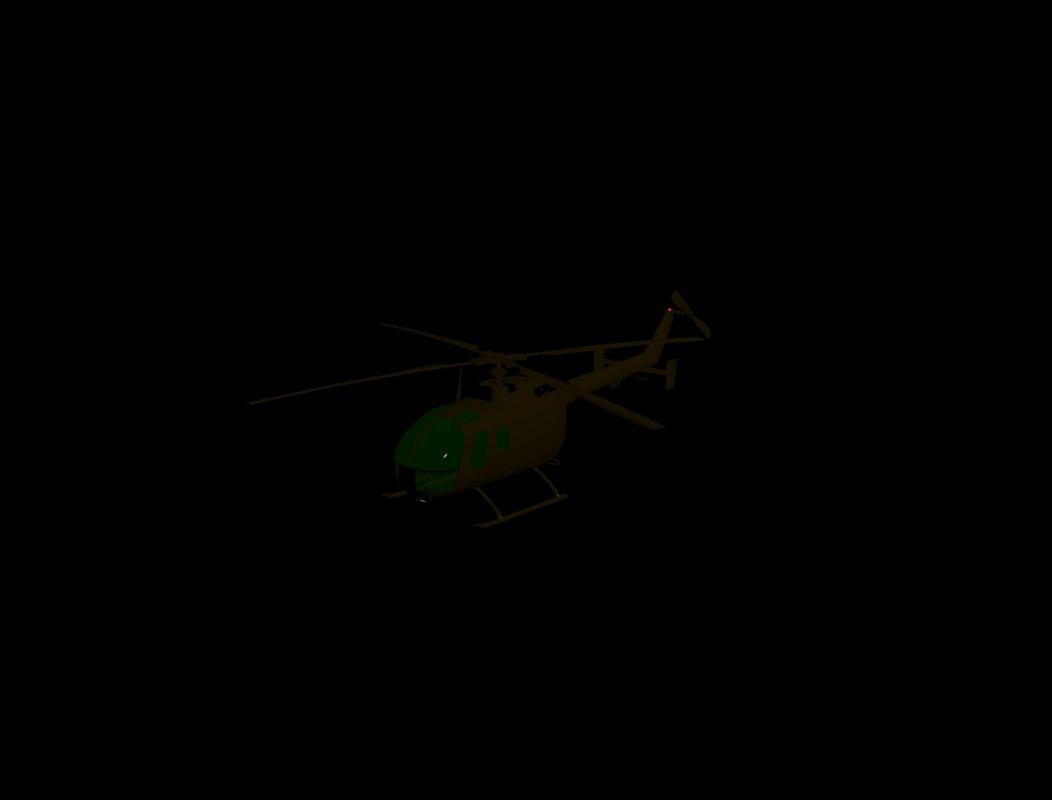 3d bo 105 helicopter model