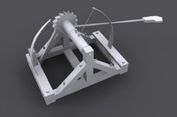 leonardo da vinci catapult 3d max