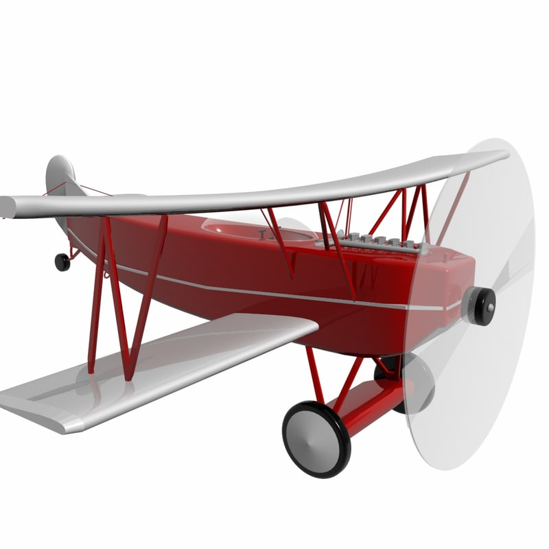 spinning airplane loader 3d 3ds