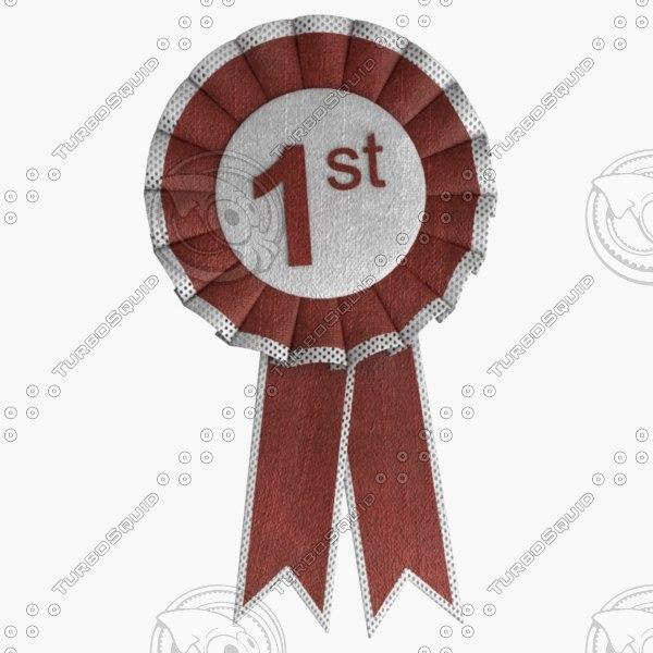 award ribbon 3d model